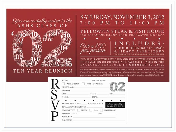high school reunion invitation wording