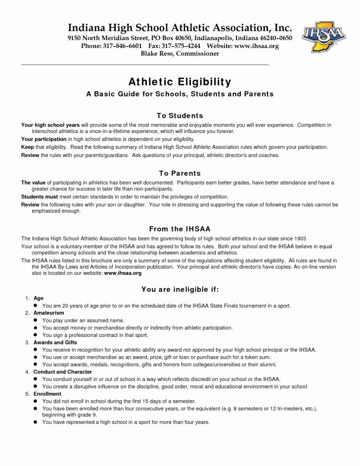 High School Student athlete Resume Examples Fresh 28