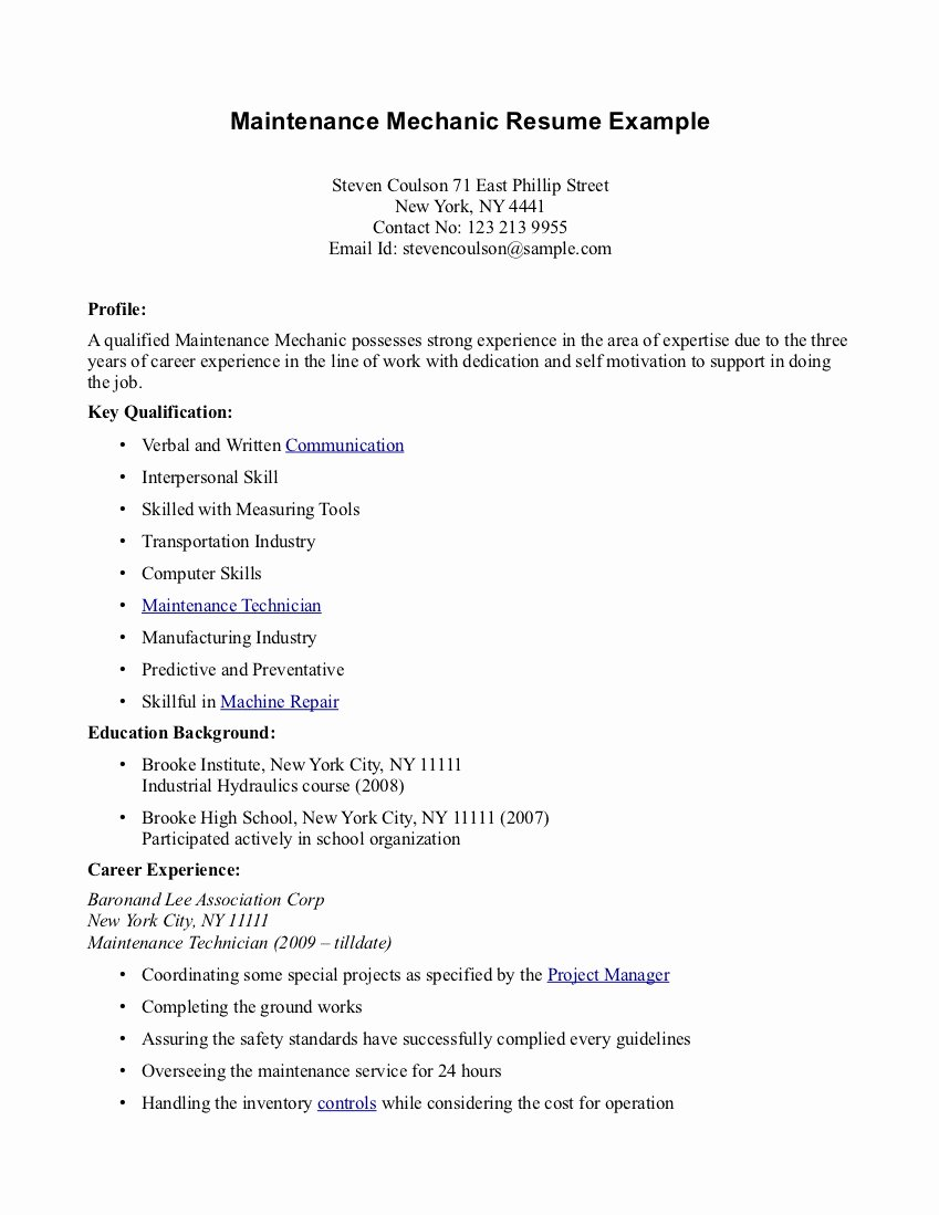 High School Student with No Work Experience First Time