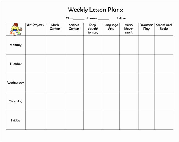 High School Weekly Lesson Plan Template Word Middle