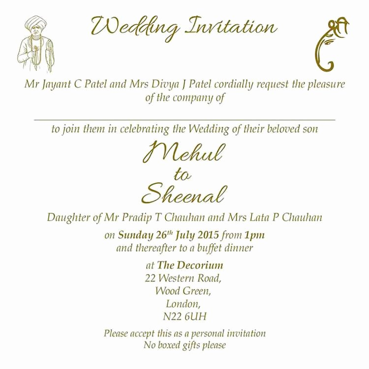 Hindu Wedding Invitation Wordings and Templates by Card Fusion