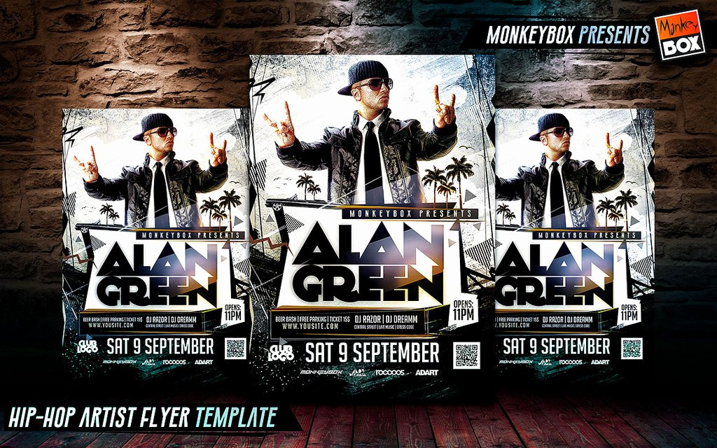 Hip Hop Artist Flyer Template by andydreamm On Deviantart
