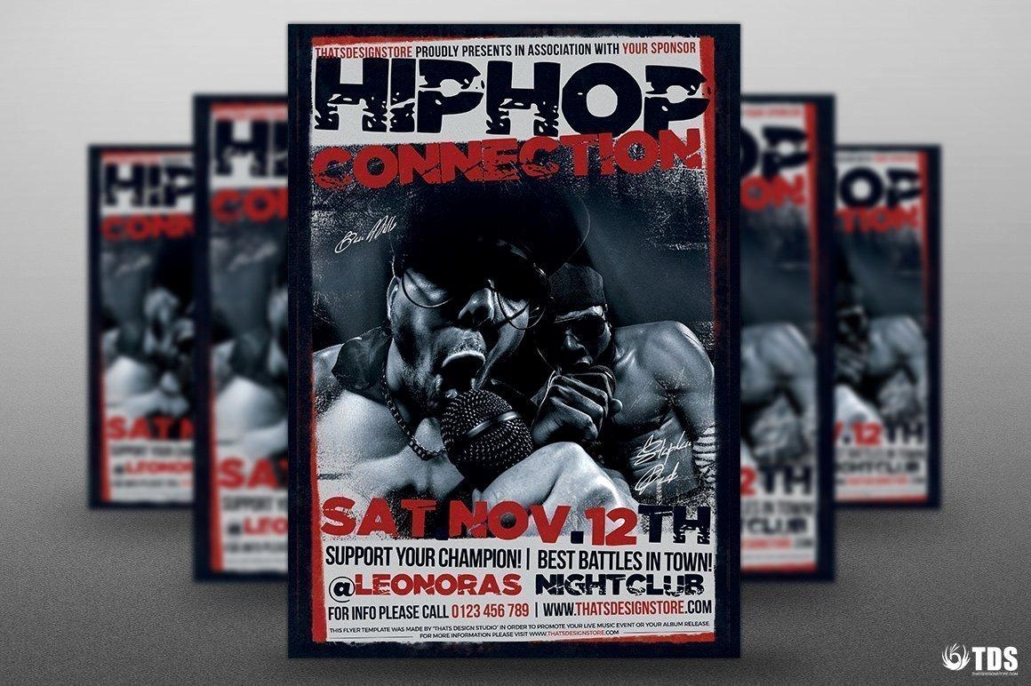 Hip Hop Connection Flyer Template