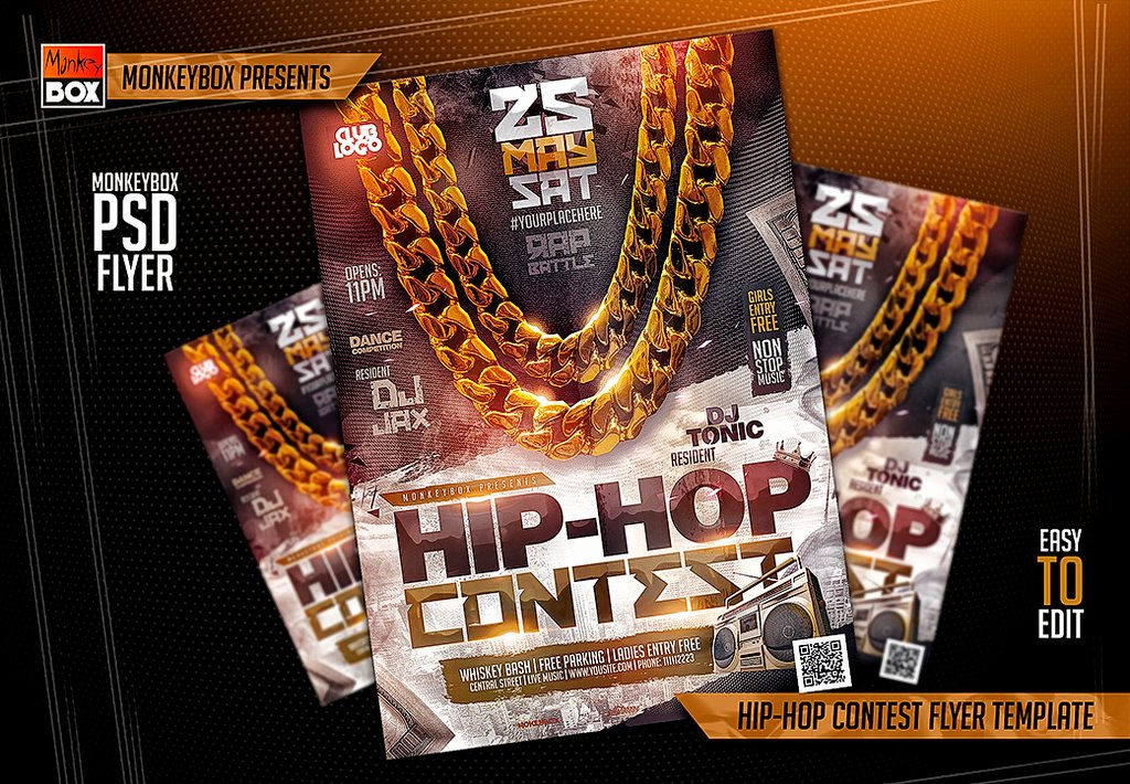 Hip Hop Contest Flyer Template by andydreamm On Deviantart
