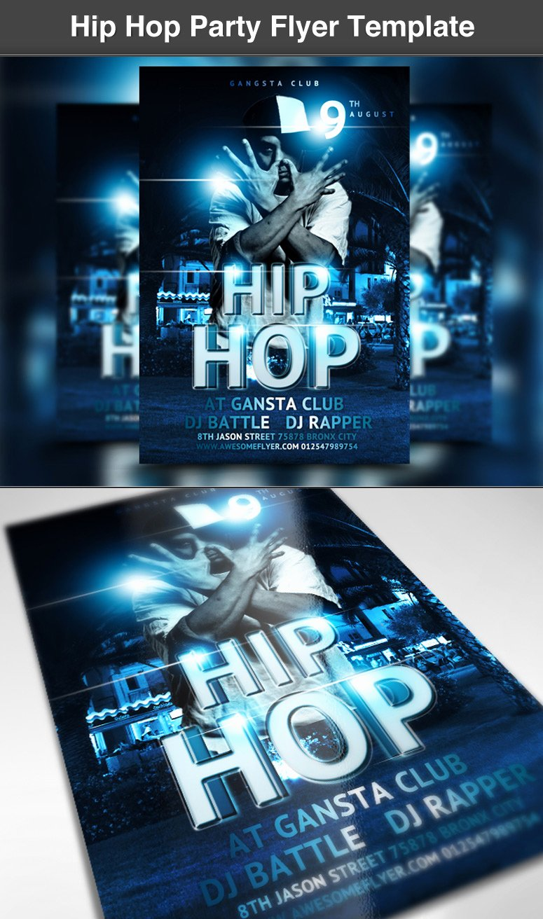 Hip Hop Party Flyer Template ‹ Psdbucket