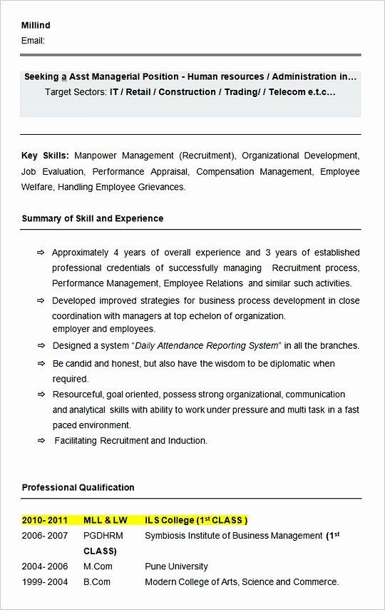 Hiring Manager Resume