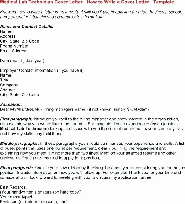 Histology Technician Cover Letter Oursearchworld