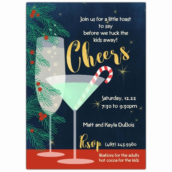 Holiday Cheers Cocktail Party Invitations