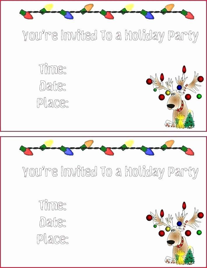 Holiday Invitation Template Free Invite Templates