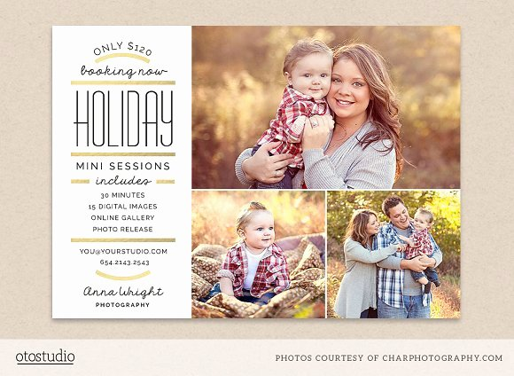 Holiday Mini Session Template Flyer Templates On