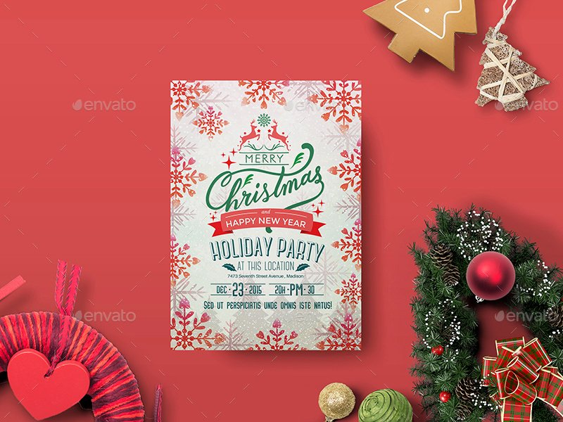 Holiday Party Flyer Template by Wutip2