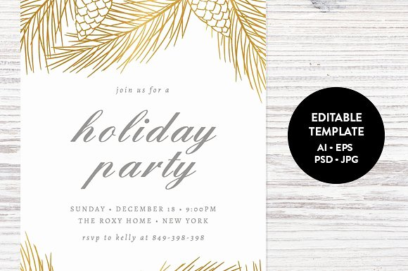 Holiday Party Invitation Template Invitation Templates