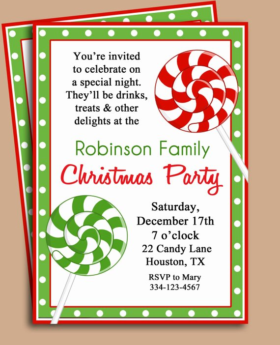 Holiday Party Invitation Wording Template