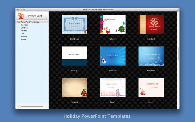 Holiday Powerpoint Templates for Mac Templates Bundle for