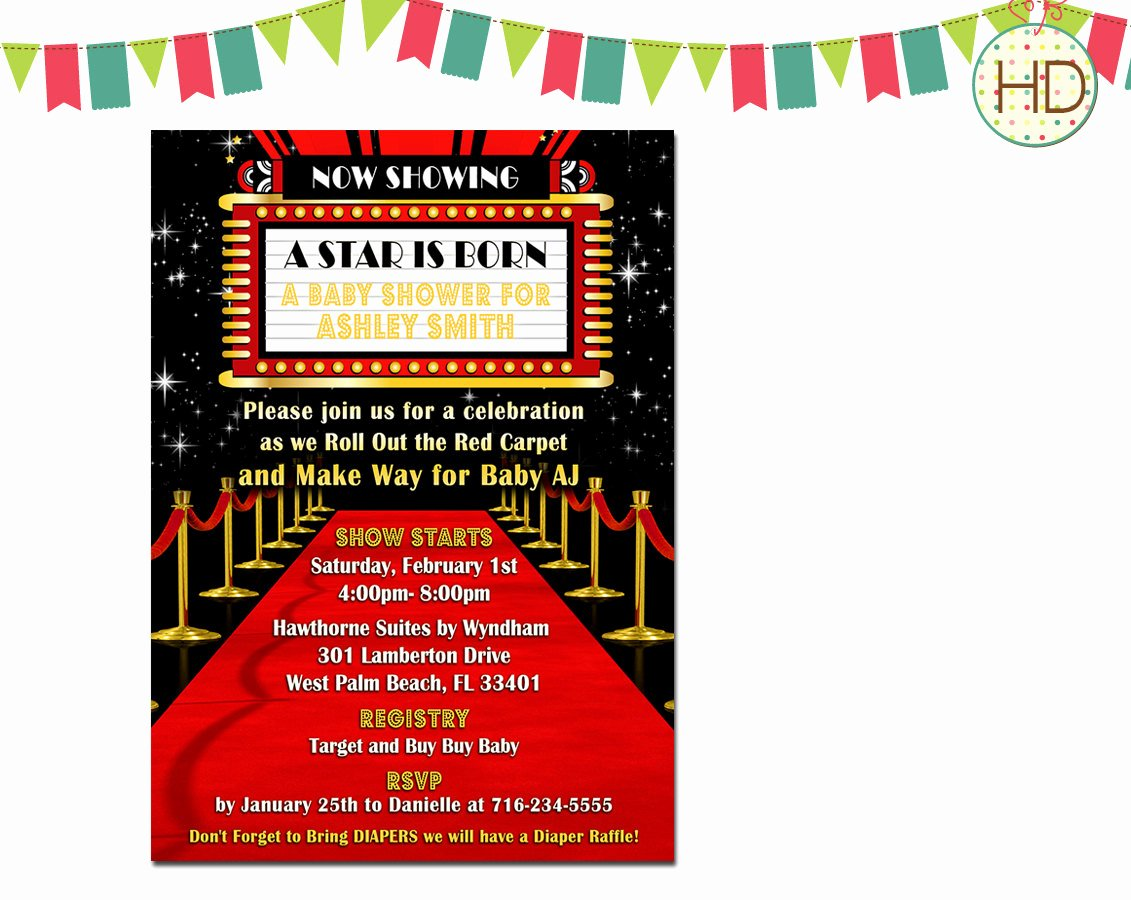 Hollywood Invitations Templates Free