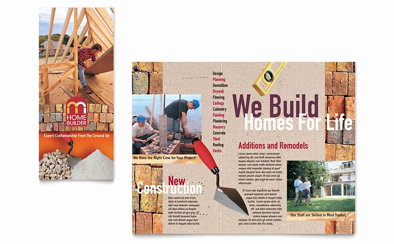 Home Builder & Contractor Brochure Template Word & Publisher
