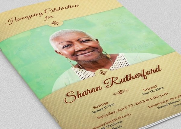 Home Going Funeral Program Template Godserv Designs