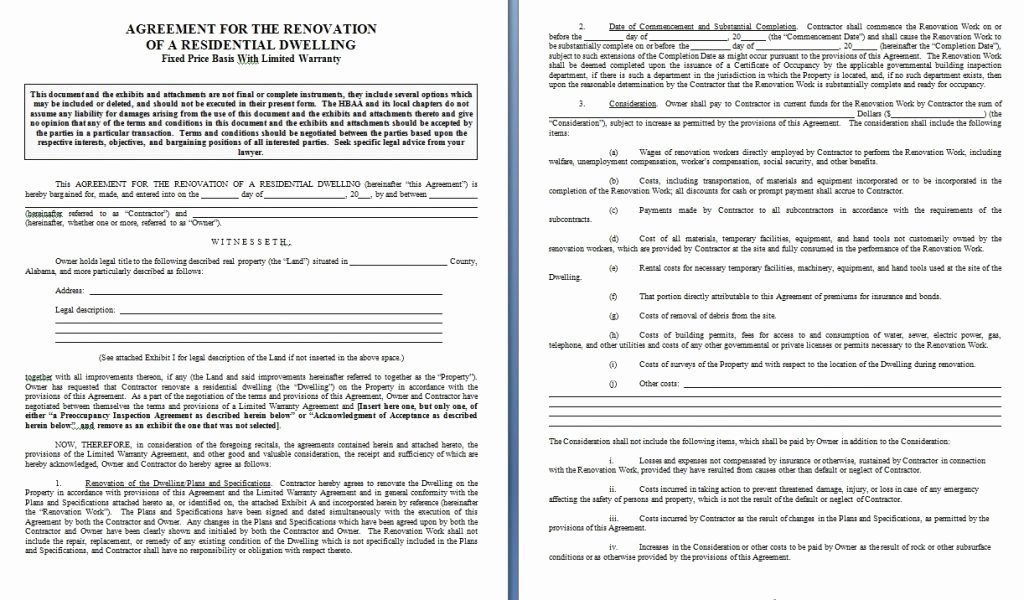 Home Improvement Contract form Free forms Best Bathroom