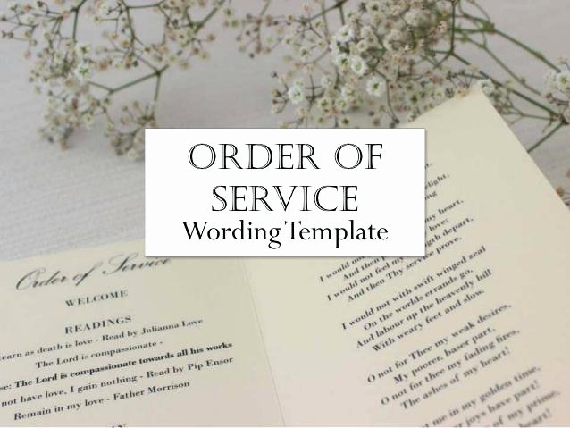 Home Improvement order Of Service Wedding Template