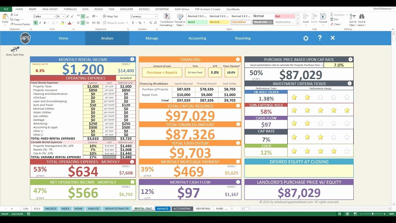Home Improvement Spreadsheet Renovation Spreadsheet