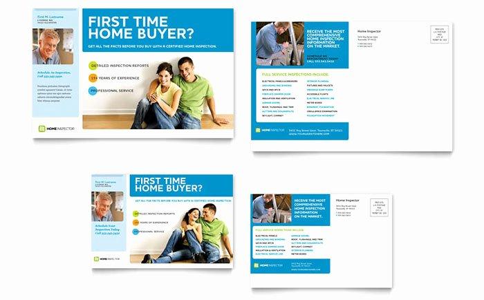 Home Inspection & Inspector Postcard Template Design