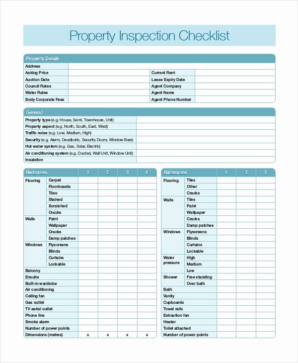 Home Inspection Checklist 13 Free Word Pdf Documents