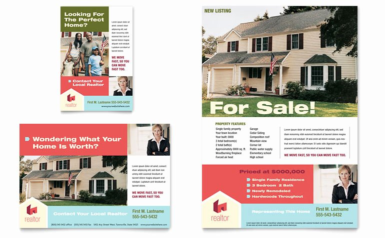 Home Real Estate Flyer & Ad Template Word & Publisher