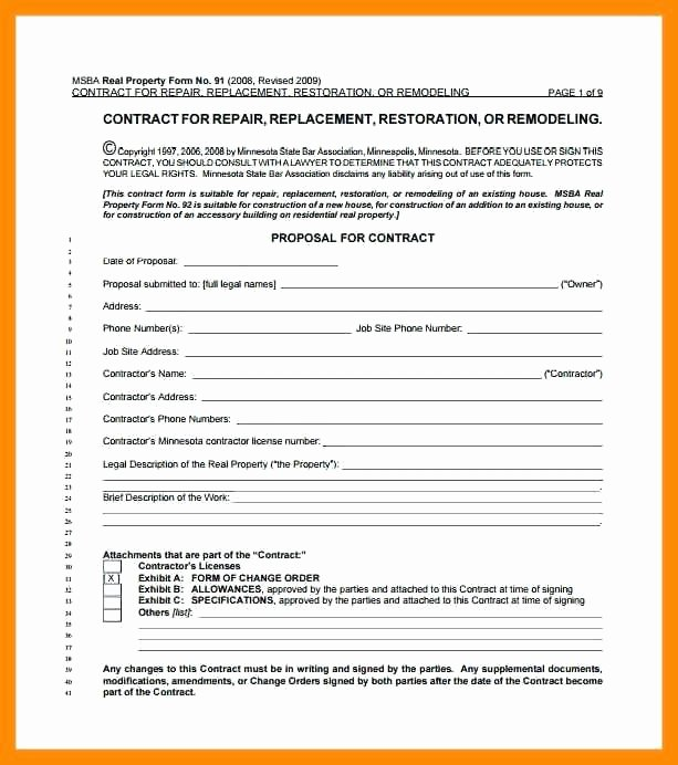 Home Remodeling Contract Template 7 Free Word Documents