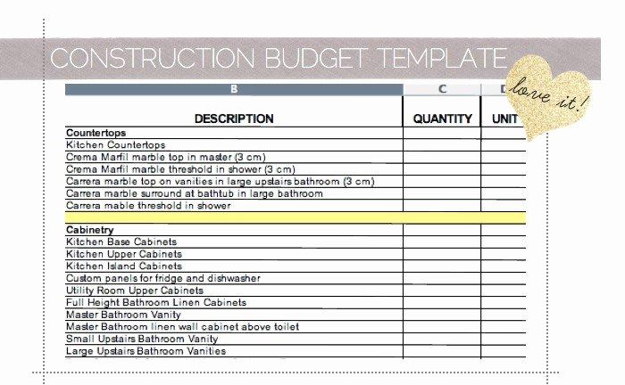 Home Renovation Cost Spreadsheet Samplebusinessresume