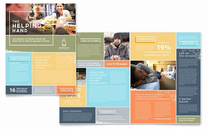Homeless Shelter Newsletter Template Design