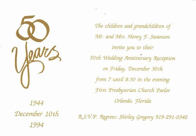Homemade 50th Anniversary Invitations