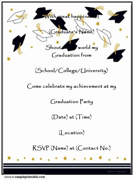 Homemade Graduation Party Invitation Printable Homemade