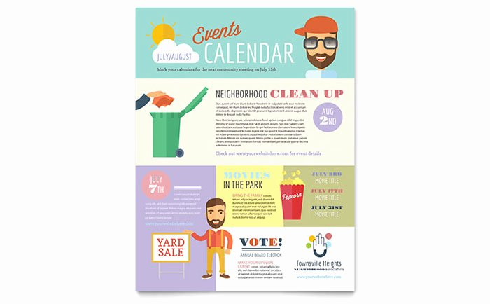 Homeowners association Flyer Template Word & Publisher