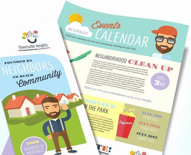 Homeowners association Newsletter Marketing – Design