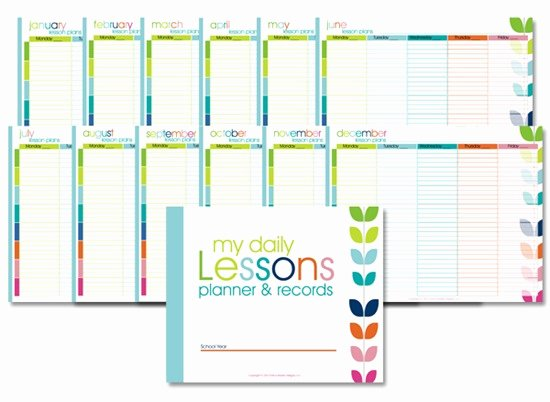 Homeschool Lesson Planner–colorful Confessions Of A
