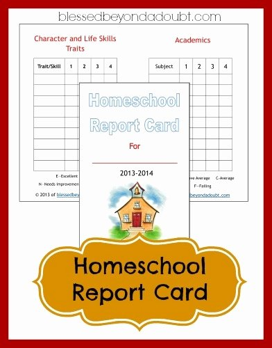Homeschool Report Card Template Free