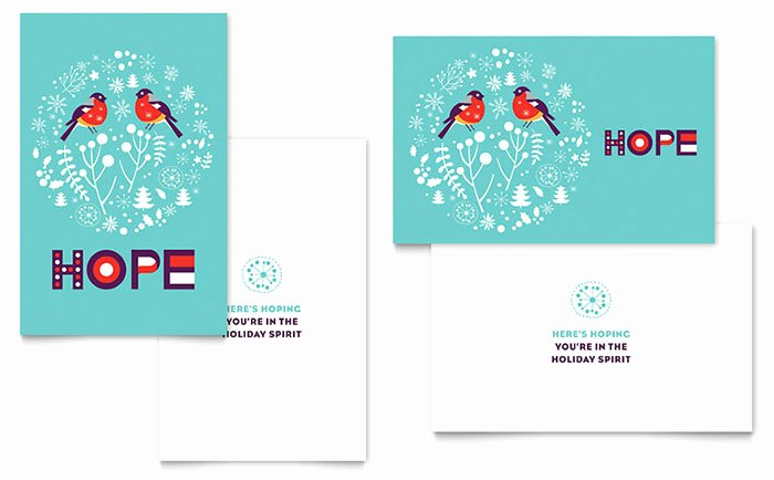 Hope Greeting Card Template Word & Publisher