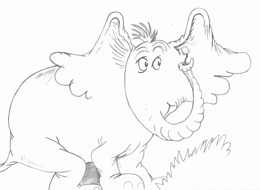 Horton Hatches the Egg Coloring Sheet Coloring Pages