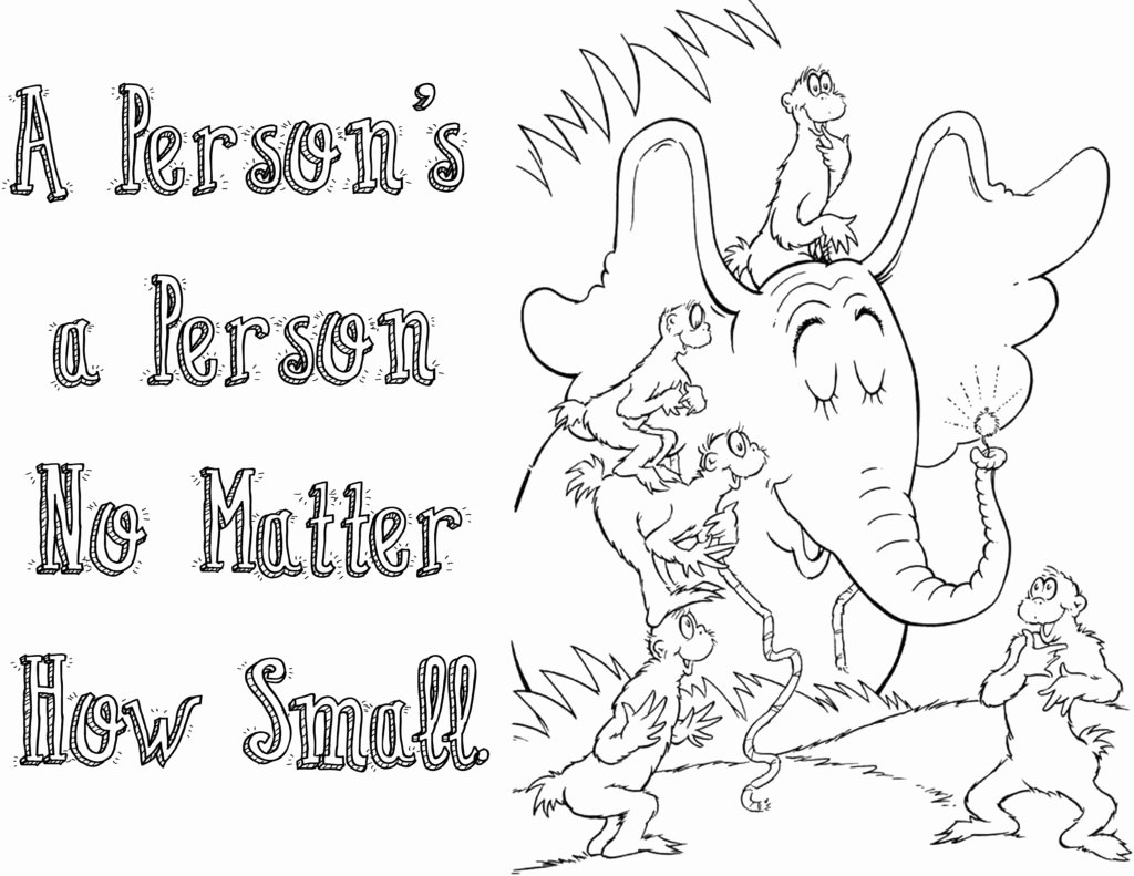 Horton Hears A who Coloring Pages Quotes Coloring Pages
