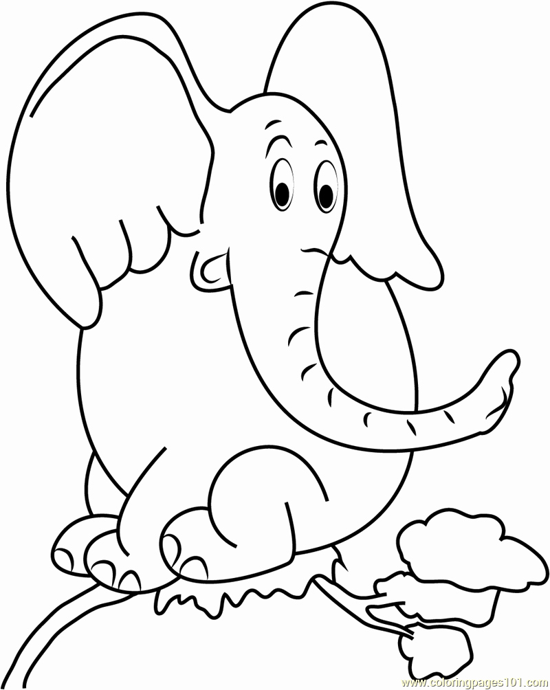 Horton the Elephant Coloring Page Coloring Pages