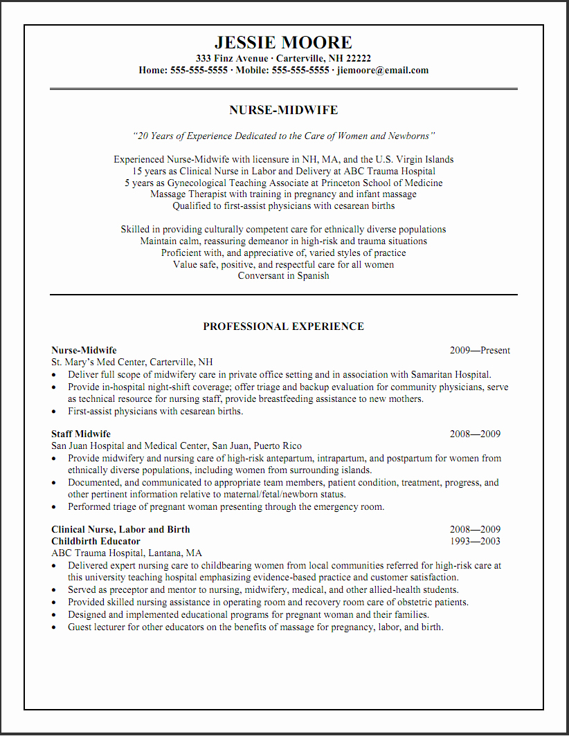 Hospice Nurse Resume Objective