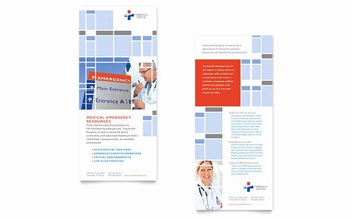 Hospital Rack Card Template Design