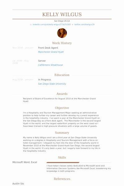 Hotel Front Desk Agent Resume Best Resume Collection