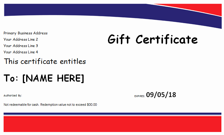 Hotel Gift Certificate Template for Ms Word