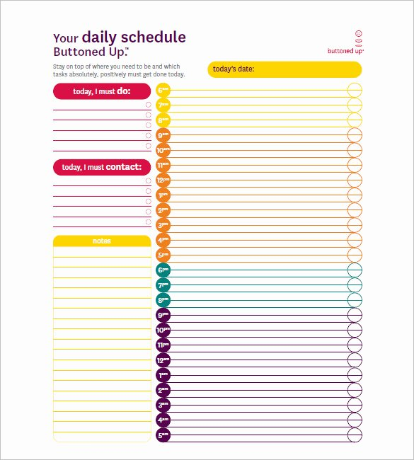 Hourly Schedule Template 35 Free Word Excel Pdf
