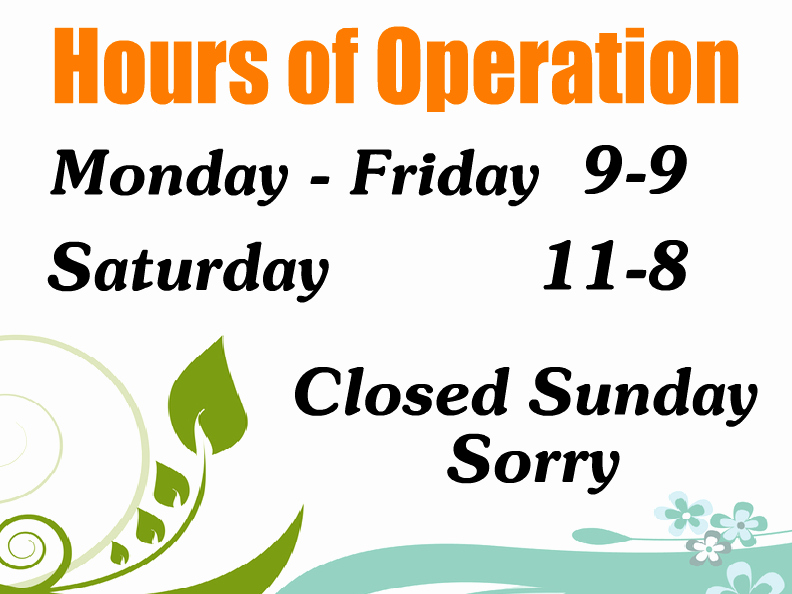 Hours Operation Templates