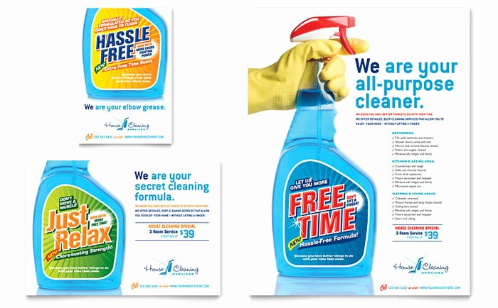House Cleaning & Housekeeping Flyer & Ad Template Design