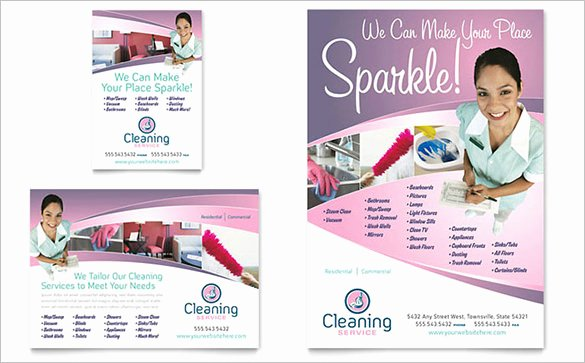 House Cleaning Flyer Template 17 Psd format Download