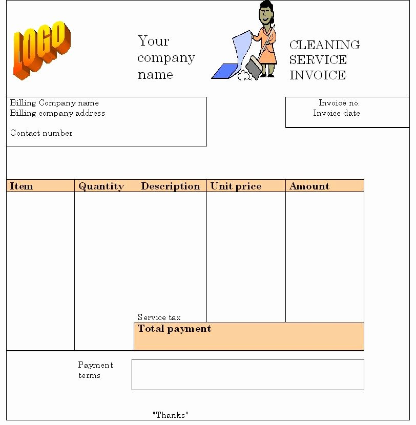 House Cleaning Free House Cleaning Invoice forms