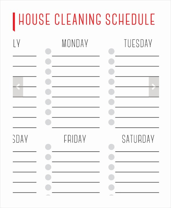 House Cleaning Schedule 16 Free Word Pdf Psd